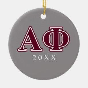 Peace Alpha Photo Ornament