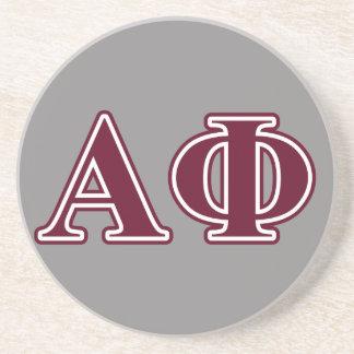 Alpha Phi Bordeaux Letters Sandstone Coaster
