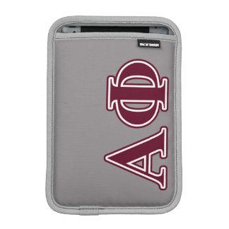 Alpha Phi Bordeaux Letters Sleeve For iPad Mini