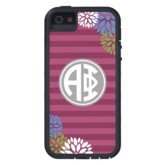 Alpha Phi | Monogram Stripe Pattern iPhone SE/5/5s Case