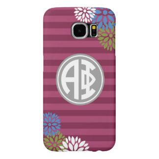 Alpha Phi | Monogram Stripe Pattern Samsung Galaxy S6 Case