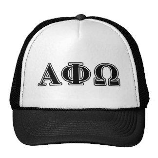Alpha Phi Omega Black Letters Trucker Hat
