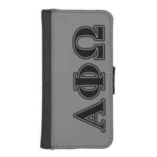 Alpha Phi Omega Black Letters iPhone SE/5/5s Wallet