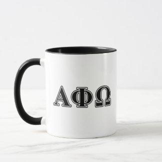 Alpha Phi Omega Black Letters Mug