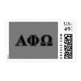 Alpha Phi Omega Black Letters Stamps