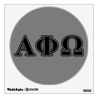 Alpha Phi Omega Black Letters Wall Decal