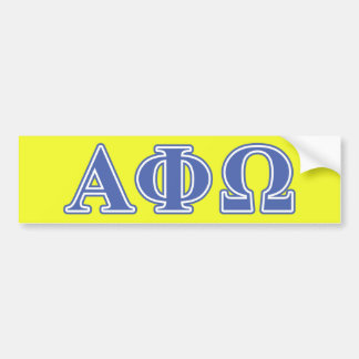 Alpha Phi Omega Blue Letters Bumper Stickers