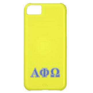 Alpha Phi Omega Blue Letters Case For iPhone 5C