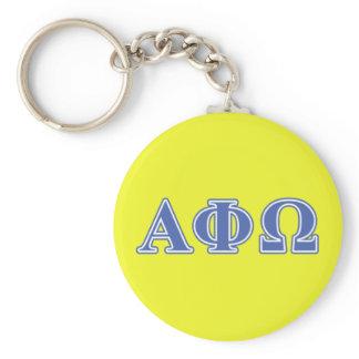 Alpha Phi Omega Blue Letters Keychain