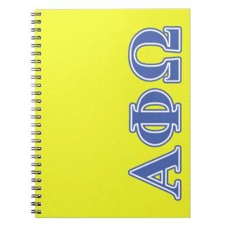 Alpha Phi Omega Blue Letters Notebook