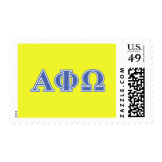 Alpha Phi Omega Blue Letters Stamp
