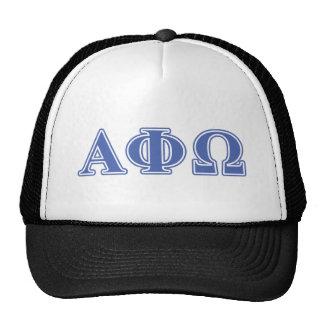 Alpha Phi Omega Blue Letters Trucker Hat
