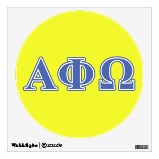 Alpha Phi Omega Blue Letters Wall Sticker