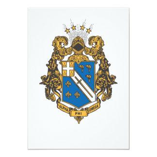 Alpha Phi Omega Color - Crest Card