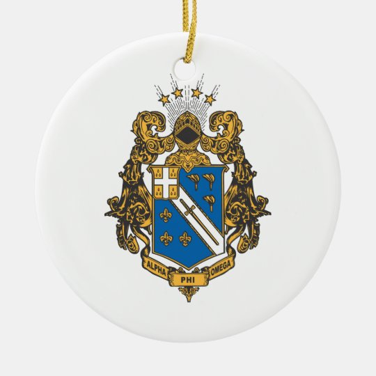 Alpha Phi Omega Color - Crest Ceramic Ornament