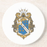 """Alpha Phi Omega Color - Crest Drink Coaster<br><div class=""""desc""""></div>"""
