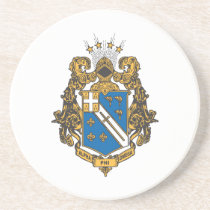 Alpha Phi Omega Color - Crest Drink Coaster
