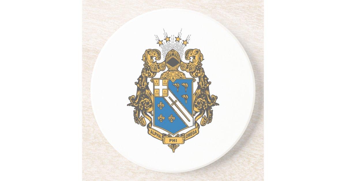 Alpha Phi Omega Color Crest Drink Coaster Zazzle