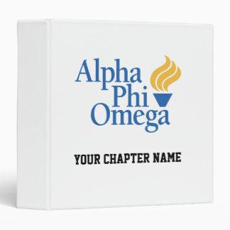 Alpha Phi Omega Color - Torch 3 Ring Binder