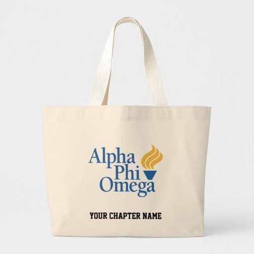 Alpha Phi Omega Color - Torch Tote Bags