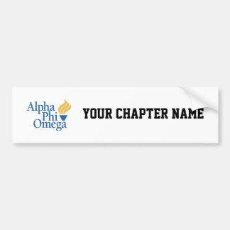 Alpha Phi Omega Color - Torch Bumper Sticker