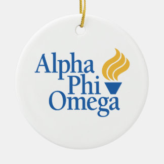 Alpha Phi Omega Color - Torch Ceramic Ornament