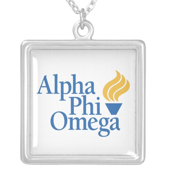 Alpha Phi Omega Color - Torch Silver Plated Necklace