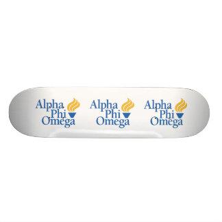 Alpha Phi Omega Color - Torch Skateboard