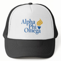 Alpha Phi Omega Color - Torch Trucker Hat