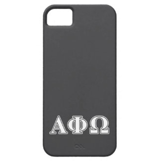 Alpha Phi Omega White and Blue Letters iPhone SE/5/5s Case