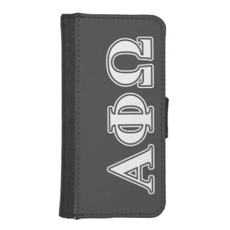 Alpha Phi Omega White and Blue Letters iPhone SE/5/5s Wallet