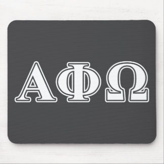 Alpha Phi Omega White and Blue Letters Mouse Pad