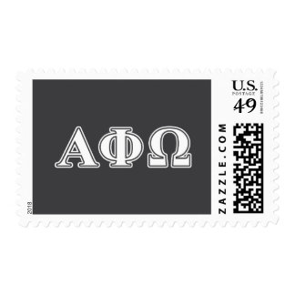 Alpha Phi Omega White and Blue Letters Postage Stamps