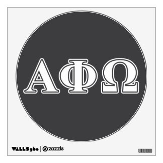 Alpha Phi Omega White and Blue Letters Wall Sticker