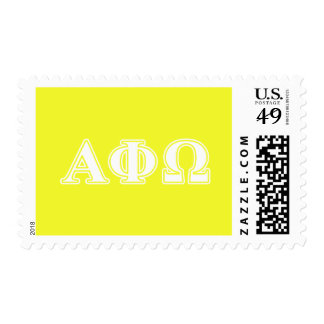 Alpha Phi Omega White and Yellow Letters Postage