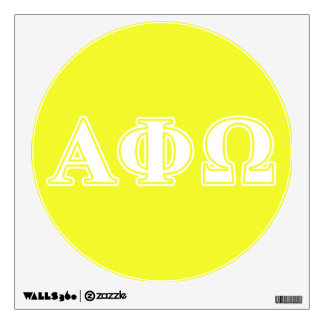 Alpha Phi Omega White and Yellow Letters Wall Decal