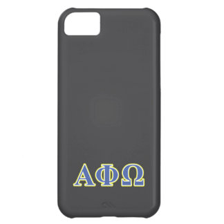 Alpha Phi Omega Yellow and Blue Letters iPhone 5C Cover