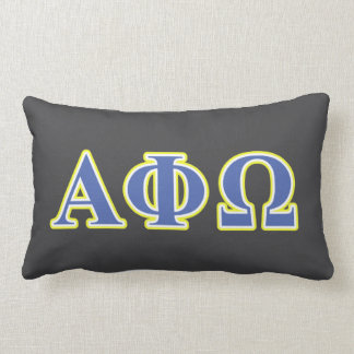 Alpha Phi Omega Yellow and Blue Letters Pillows
