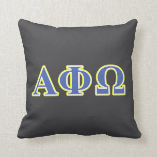 Alpha Phi Omega Yellow and Blue Letters Pillow