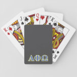 "Alpha Phi Omega Yellow and Blue Letters Playing Cards<br><div class=""desc"">Check out these official Alpha Phi Omega designs! Personalize your own Greek merchandise on Zazzle.com! Click the Customize button to insert your own name, class year, or club to make a unique product. Try adding text using various fonts &amp; view a preview of your design! Zazzle&#39;s easy to customize products...</div>"