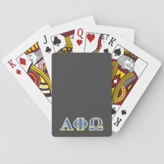 Alpha Phi Omega Yellow and Blue Letters Playing Cards