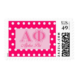 Alpha Phi Pink Letters Postage Stamp