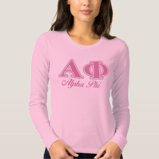 Alpha Phi Pink Letters T-Shirt
