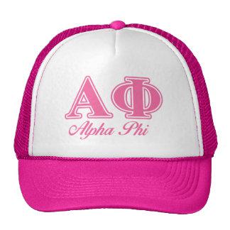 Alpha Phi Pink Letters Trucker Hat