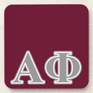 Alpha Phi Silver Letters Coaster