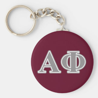 Alpha Phi Silver Letters Keychain