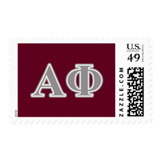 Alpha Phi Silver Letters Postage
