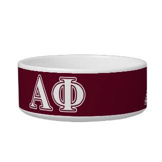 Alpha Phi White and Bordeau Letters Bowl