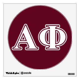 Alpha Phi White and Bordeau Letters Wall Sticker