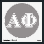"""Alpha Phi White and Silver Letters Wall Decal<br><div class=""""desc"""">Check out these official Alpha Phi designs! Personalize your own Greek merchandise on Zazzle.com! Click the Customize button to insert your own name, class year, or club to make a unique product. Try adding text using various fonts &amp; view a preview of your design! Zazzle&#39;s easy to customize products have...</div>"""